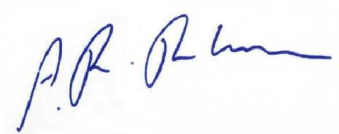 signature of A.R. Rahman