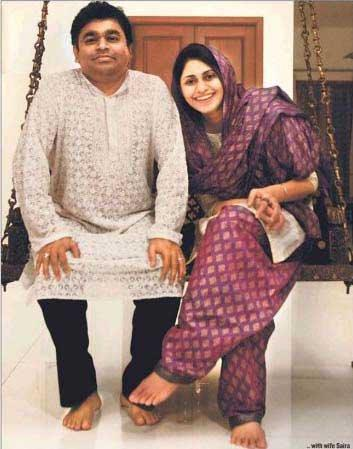 A.R.Rahman and his Wife Saira